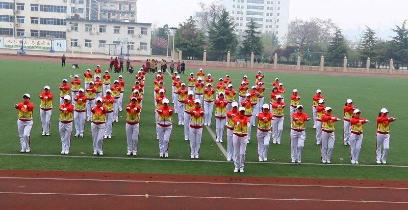 芮城县老体协举办广场操培训班